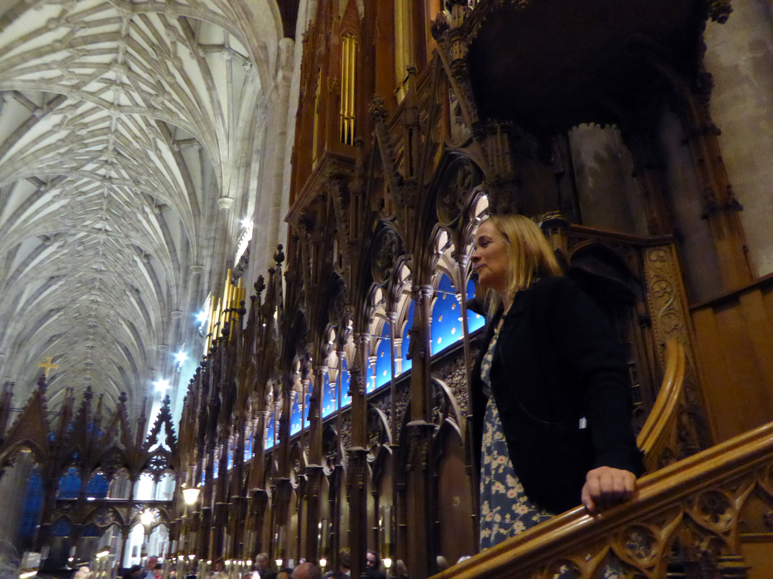 Tracy Chevalier at Winchester Cathedral photographed by Birgitta Huse