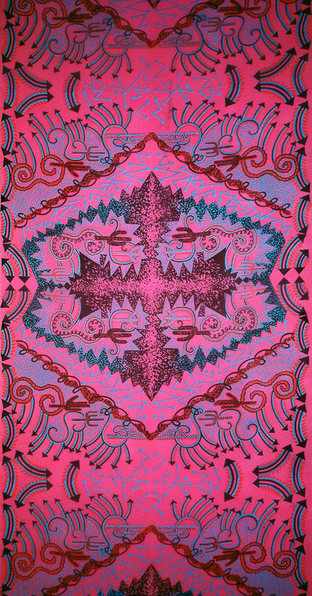 Zandra Rhodes 'Cactus Highway' print, 1976