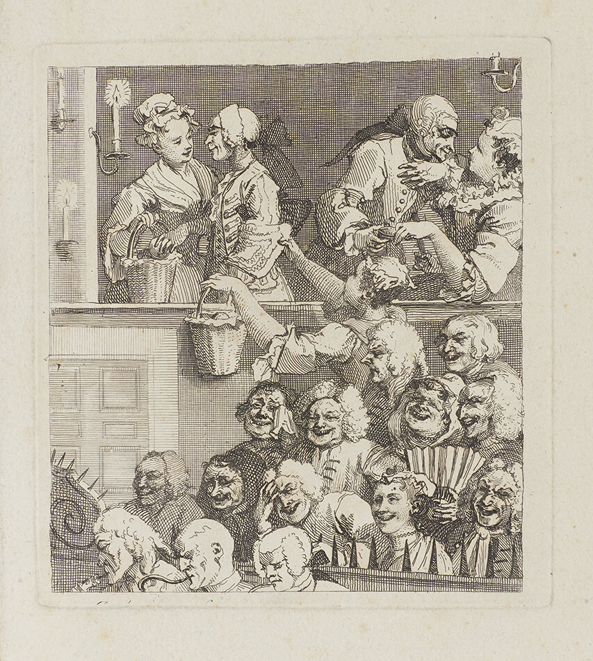 William Hogarth, The Laughing Audience, c. 1733 © Gerald Coke Handel Foundation