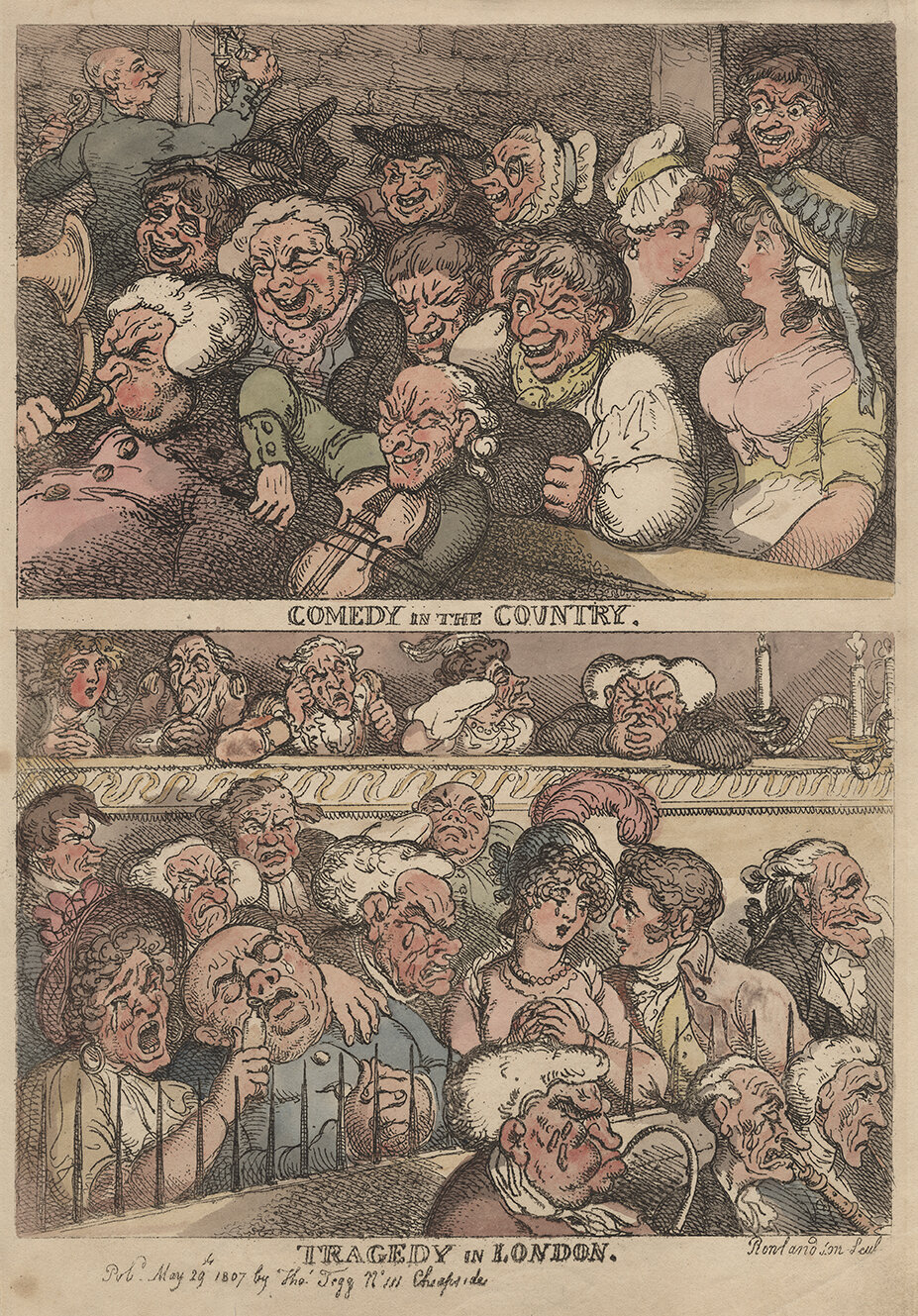 Thomas Rowlandson, Comedy in the Country, 1807 © Gerald Coke Handel Foundation