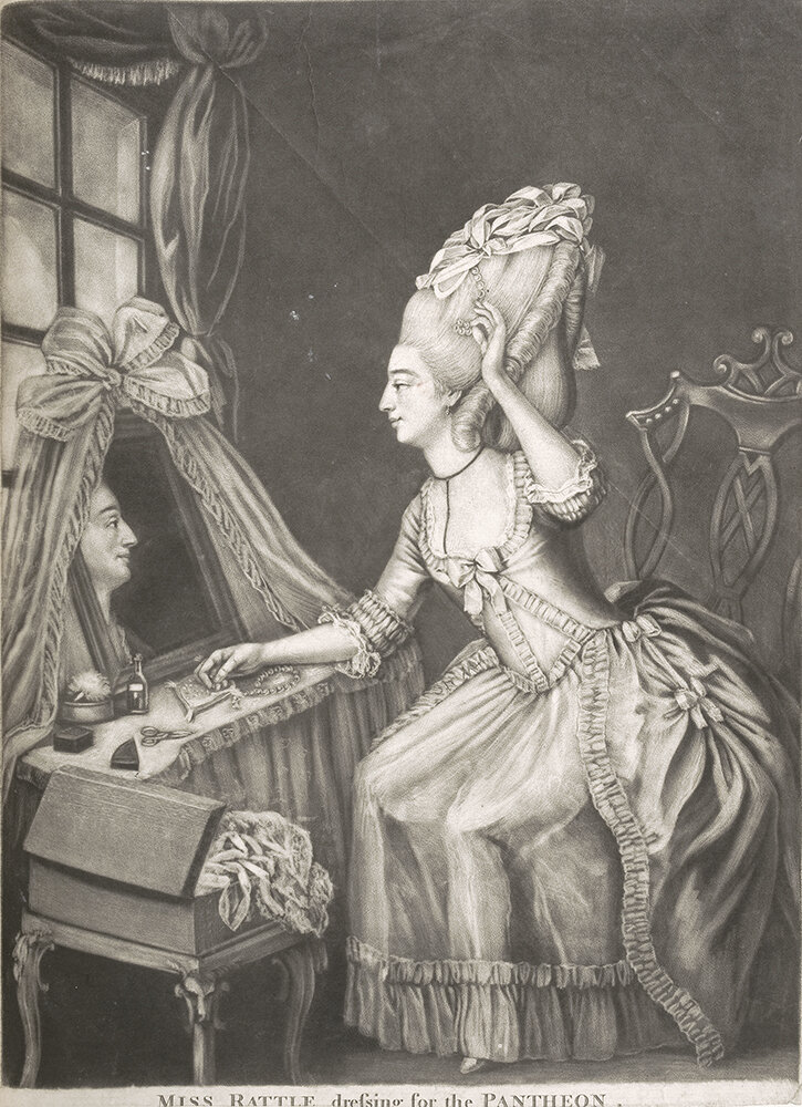 Miss Rattle dressing for the Pantheon, c 1772 © Gerald Coke Handel Foundation