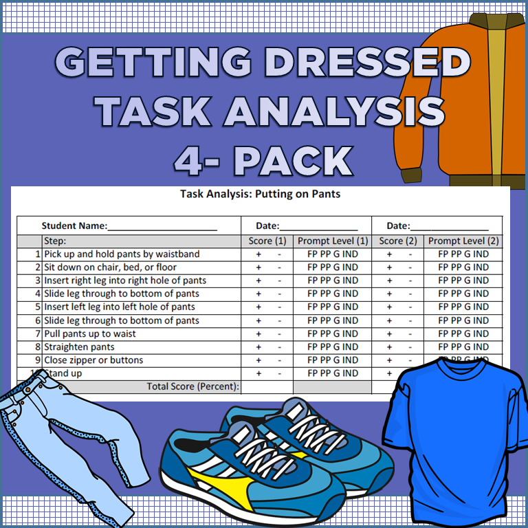 Task Analysis for Getting Dressed and Hygiene