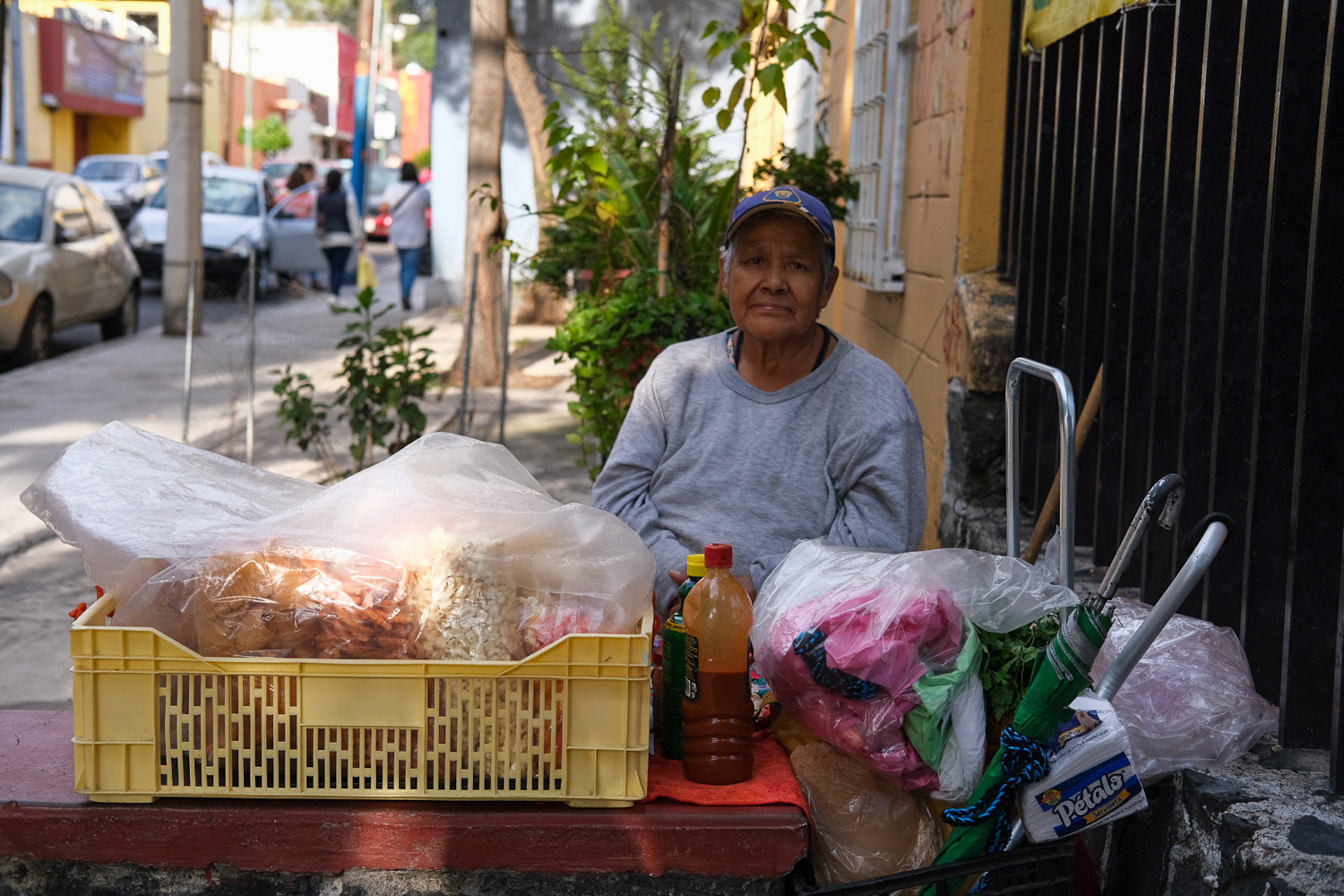 I'll end with this photo of this woman selling snacks in Mexico City. I saw her and thought of the street vendors in LA, the majority of whom are women. I thought of the resilience that people on either side of the border have to have every day in order to survive. Seeing people's resilience helped to reaffirm why we do this work. We do it because we see the resilience in our communities and the lengths to which people go just to make a living. And, ultimately, we do this work to create a world in which people don't have to be this resilient  just  to survive. A world where they have more opportunity.