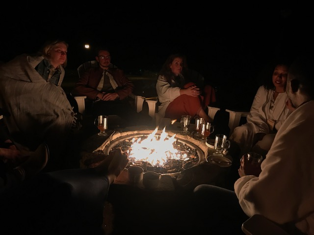 Fireside chat on a different night.