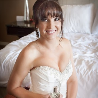 Bride With Custom Fragrance