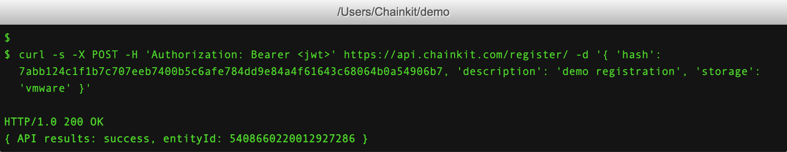 Step 2: Register() Your Hash