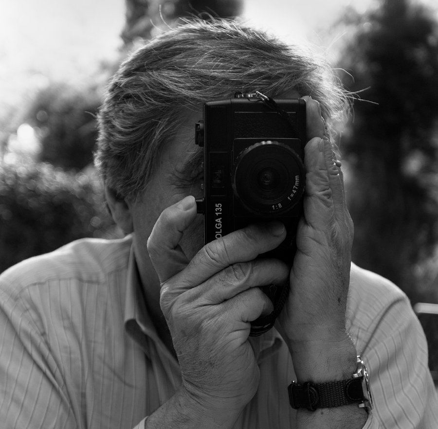 Pierre Toutain-Dorbec - with his Holga 135, JerusalemPhoto © Claudia Toutain-Dorbec