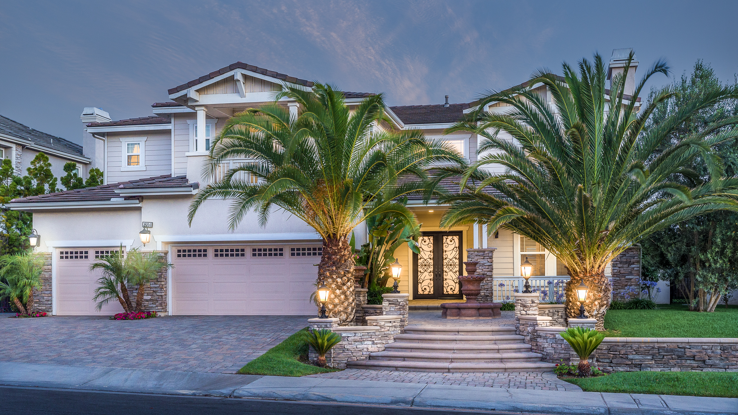 Yorba Linda Real Estate Photography Twilight Exterior Orange County