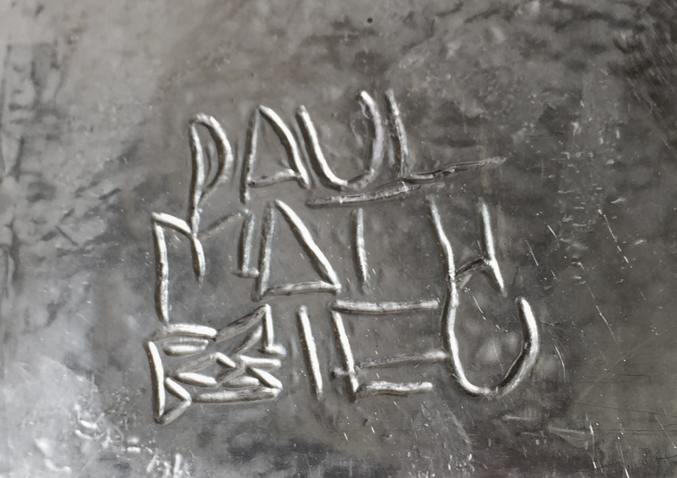 Paul Mathieu Signature Stamp on Silver