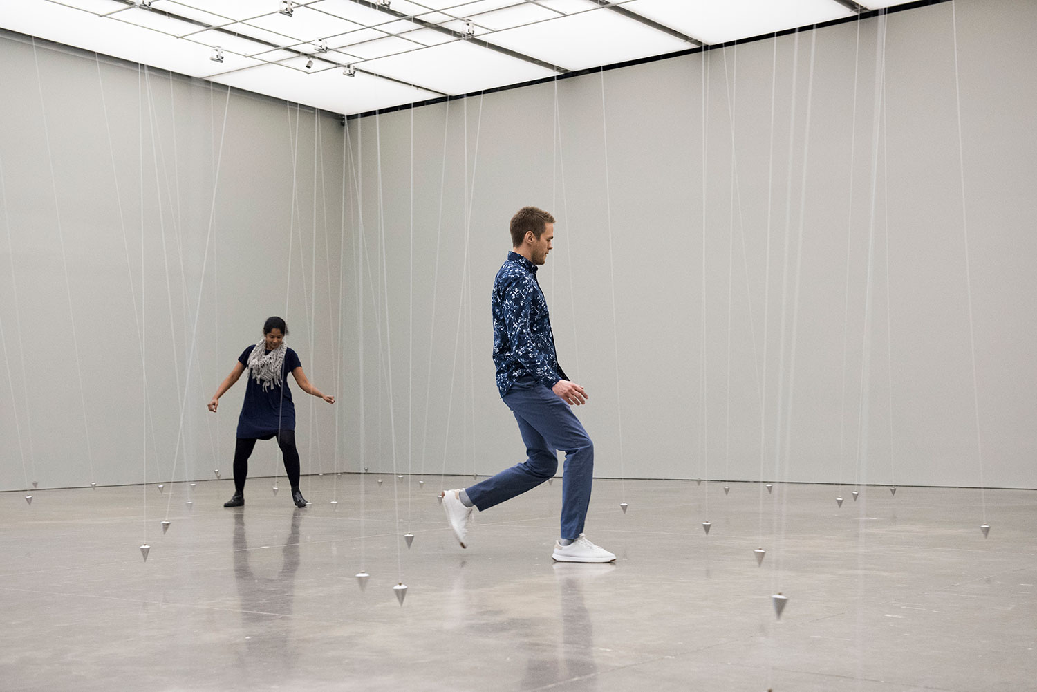 William Forsythe, Nowhere and Everywhere at the Same Time, No. 3, 2015. Courtesy of Museum Für Moderne Kunst Frankfurt Am Main, Germany; the artist; and Gagosian, NewYork. Photography by Liza Voll © William Forsythe