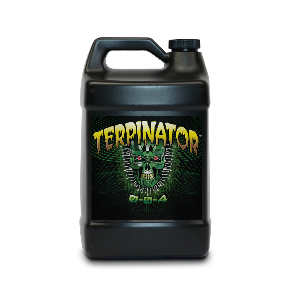 About Terpinator - Terpinator is a plant nutrient formulated with potassium and naturally occurring compounds. Terpinator is designed to increase the concentration of terpenes in aromatic plant oils.