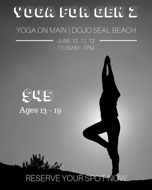 DOJO TEEN YOGA CAMP / Our first Teen yoga Workshop is less than a week away! Bring your friends and meet new ones @dojosealbeach. DM us to register or visit yogasealbeach.com