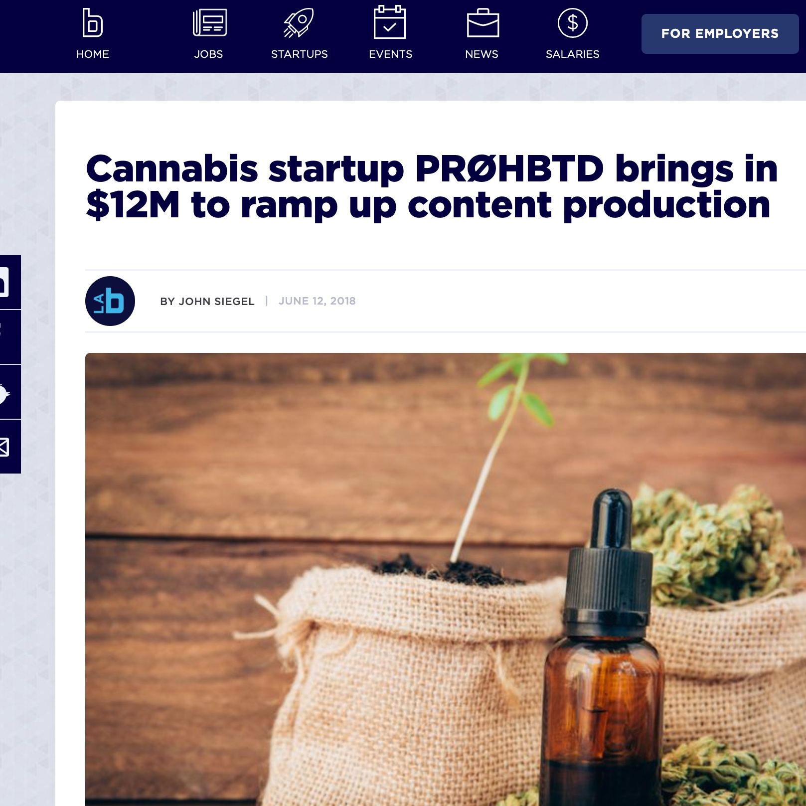 Cannabis startup PRØHBTD brings in $12M to ramp up content production -