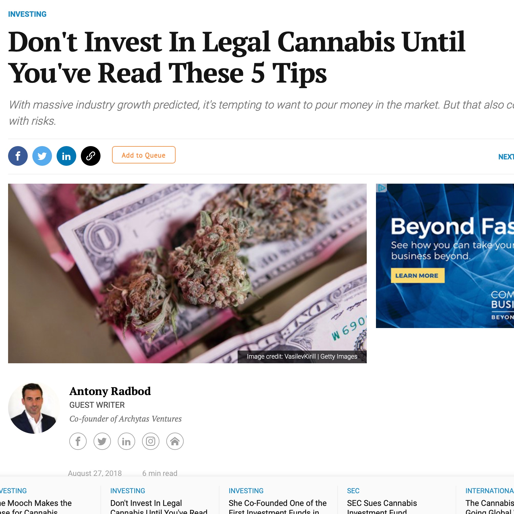 Don't Invest in Legal Cannabis Until You've Read These 5 Tips -