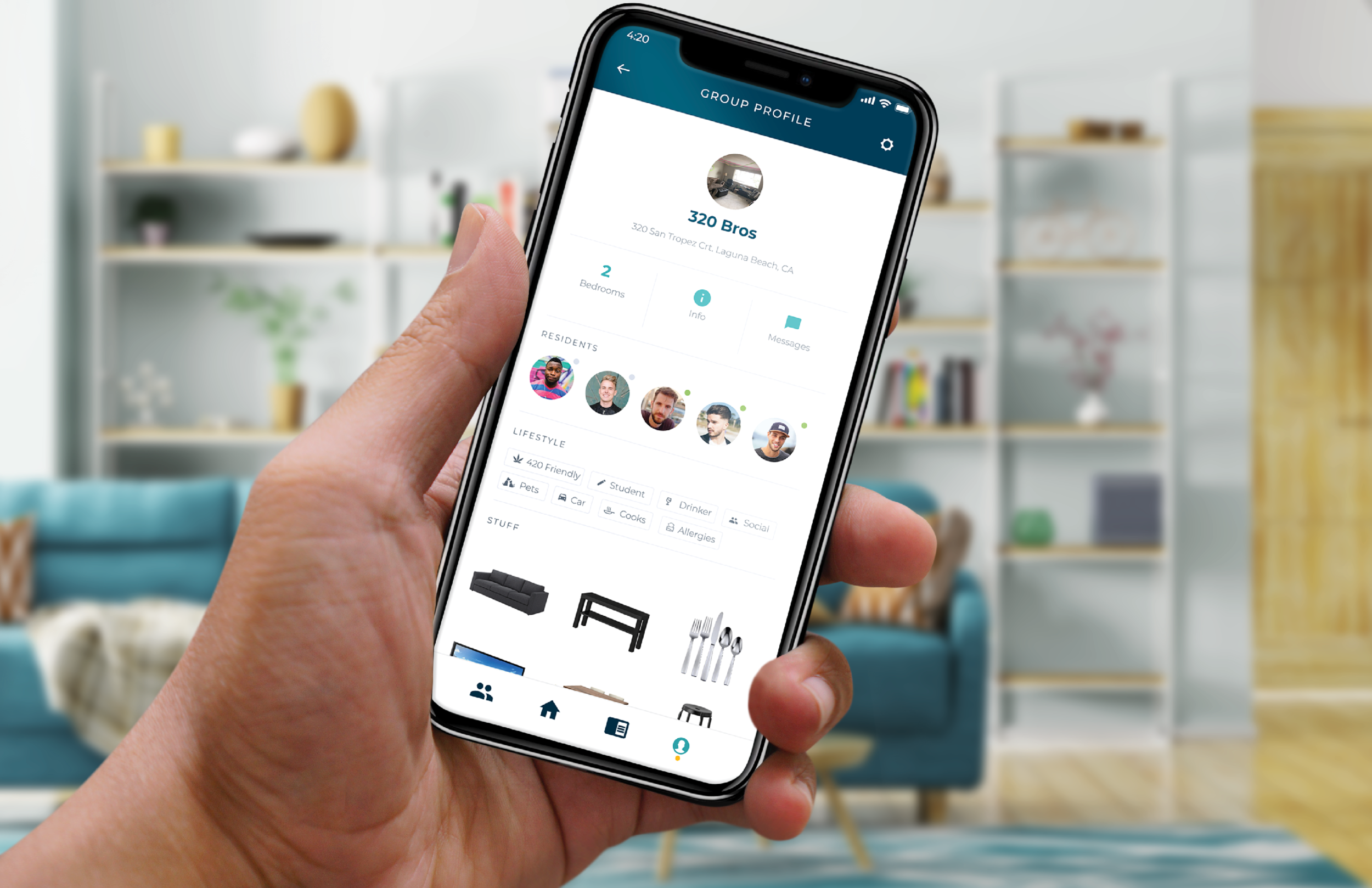 livin - rent, roommates, and beyondconnection / efficiency / organizedRoommate conflict is a widespread issue among students and other co-habitating groups of people. LIVIN uses crowd sourcing and an integrated calculator to help roommates navigate the home-sharing experience from start to finish.