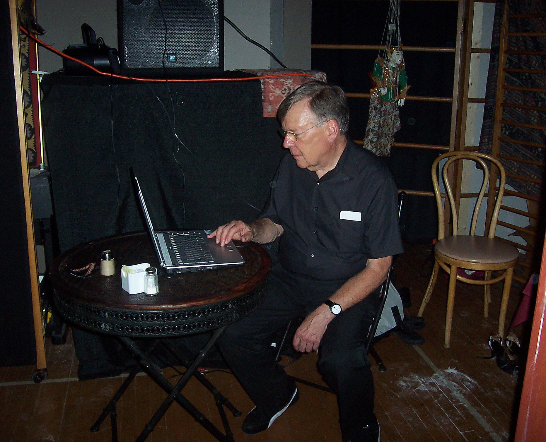 Ron as DJ at Natasha's