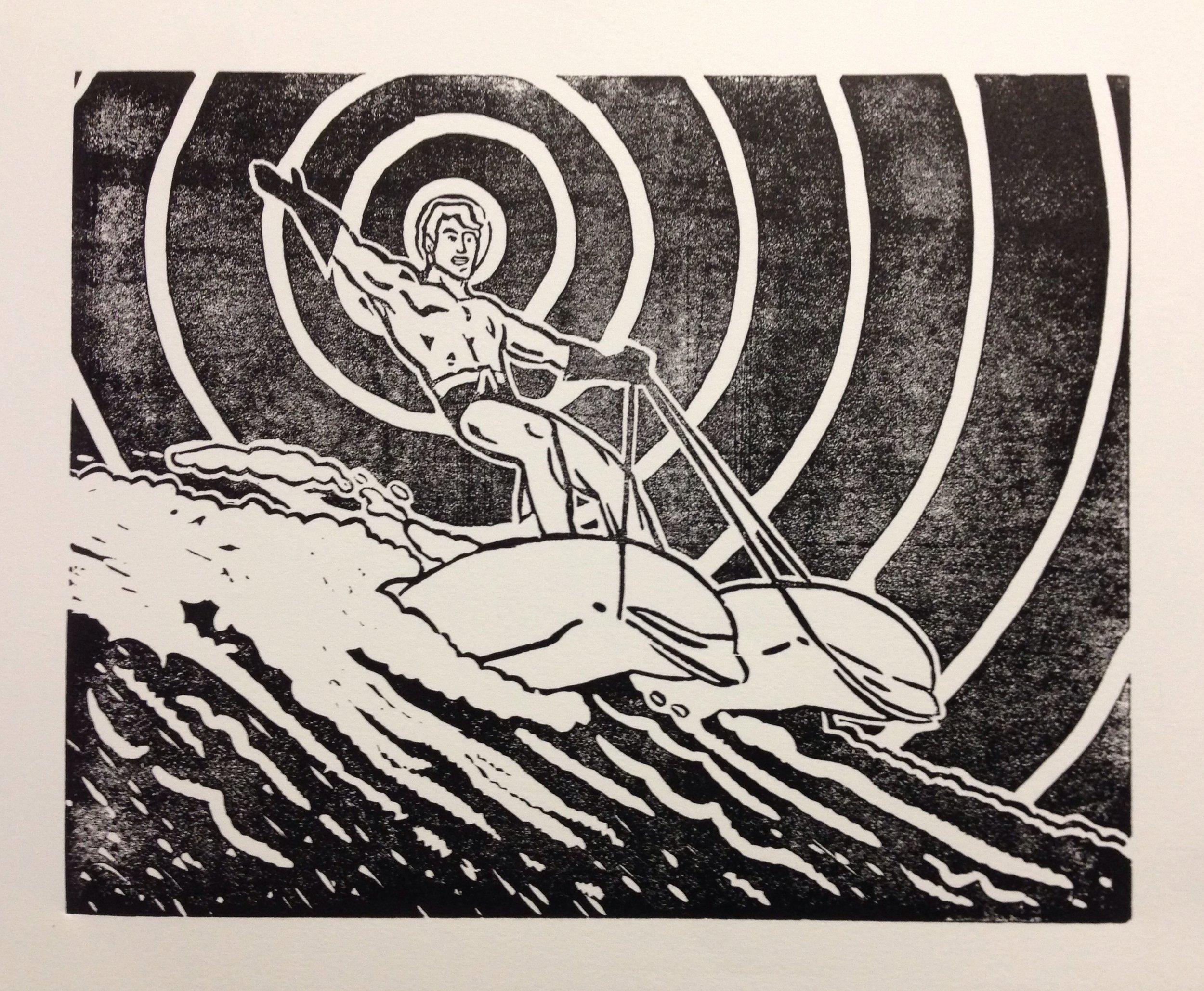 Aquaman, Linocut