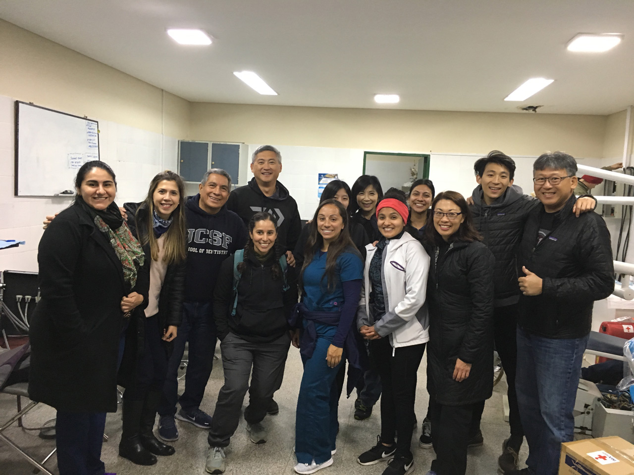 First meeting in the dental clinic at the hospital in Luque, Paraguay