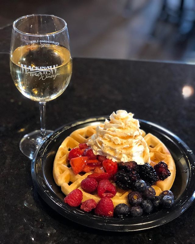 Don't forget to stop by and join us for Waffles & Wine till 4pm! Get a glass or flight of wine and get a free waffle!!