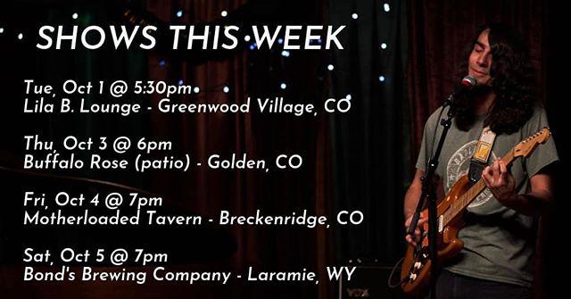 Giggin' all week. Come see me. 📸: @kevmkmgmt
