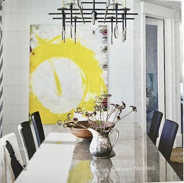 Tracy Moore's dining room  #meredithbingham #thetracymoore #cameronmacneil #canvasgallery #artist #cityline #canadianart #houseandhome
