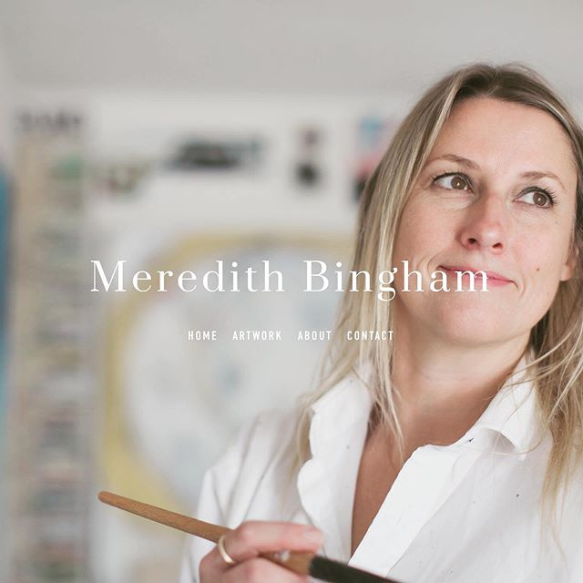 www.meredithbingham.com  New website is live! Thank you to Alissa Sexton, (formerly from Bau-xi gallery), now art consultant extraordinarie! And Marina Dempster for your keen and creative eye.  #meredithbingham #alissasextonart #marinadempsterphotography #interiordesign #modernart