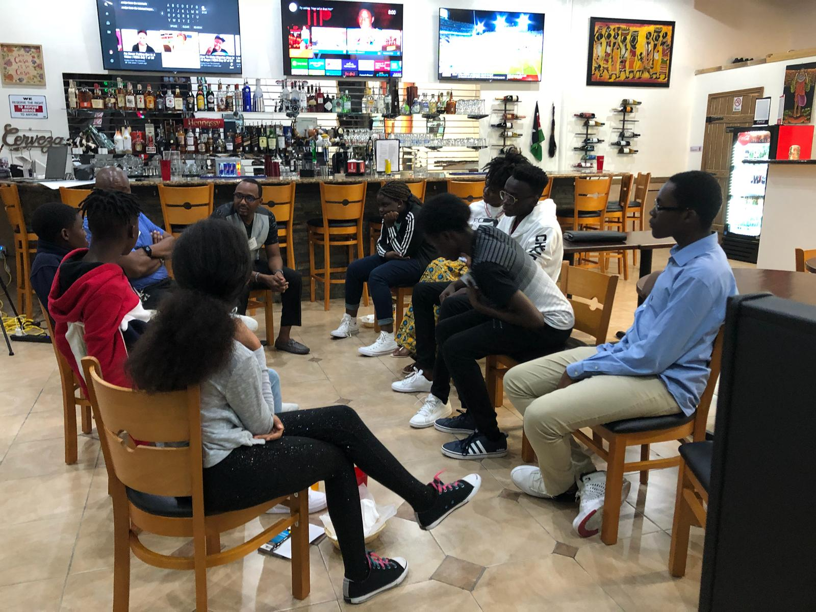 Business Career and Culture Program at Simba Grille with FirstGeners