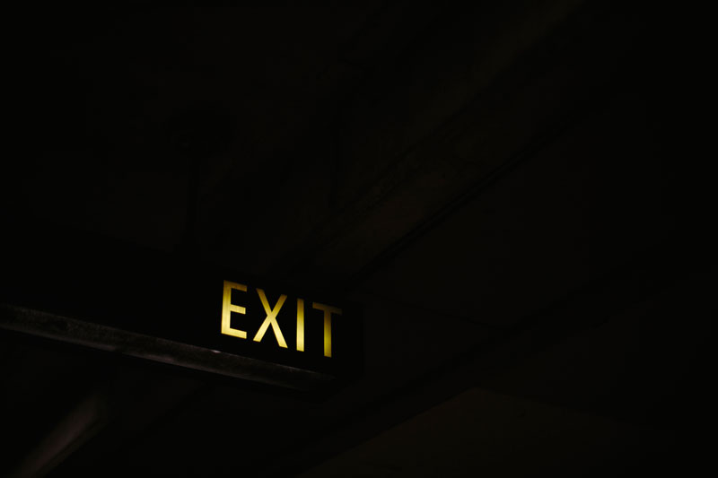 San Francisco, Daly City bart station, exit signage