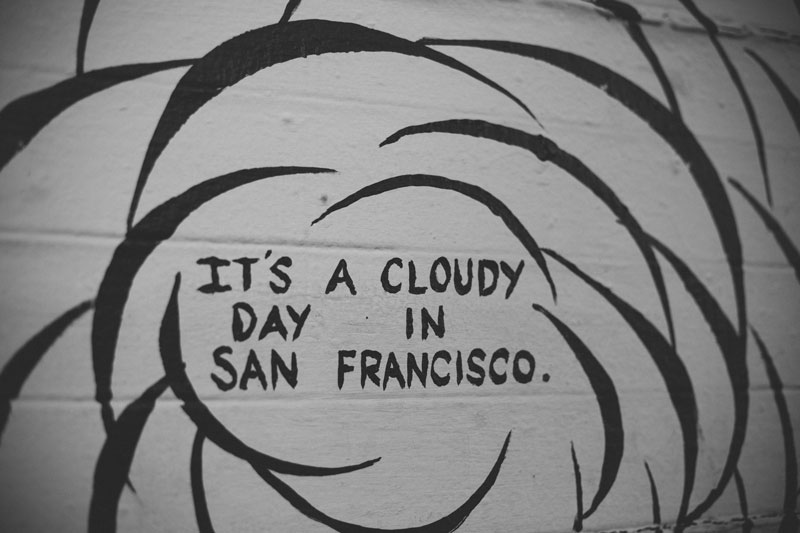 San Francisco, Mission District, it's a could day in San Francisco