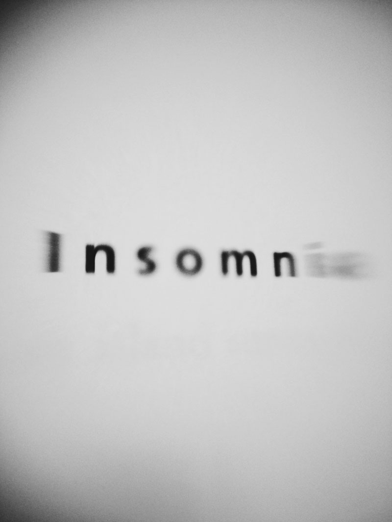 Stephen King, Insomnia, typography, black and white, lensbaby