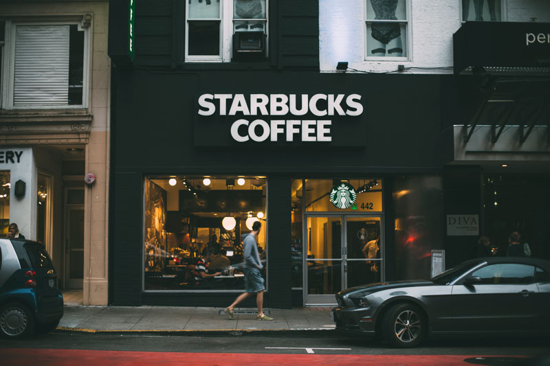 Starbucks coffee San Francisco signage