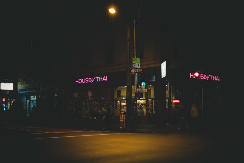 San Francisco House of Thai restaurant signage