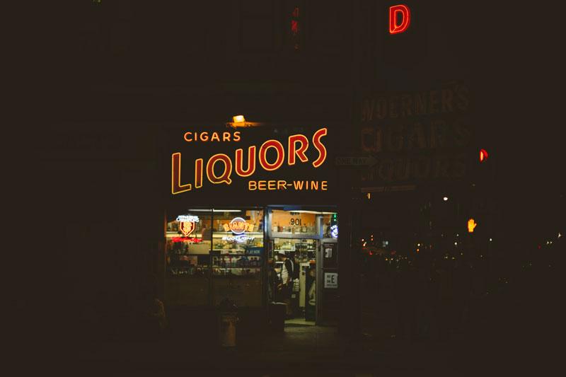 San Francisco liquor store signage