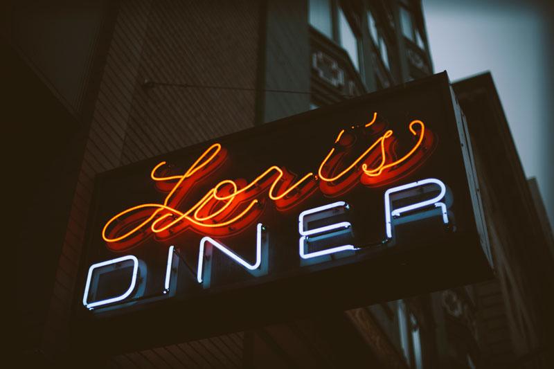 Lori's Diner San Francisco restaurant signage