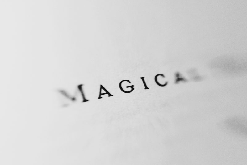 Monica-Galvan-photography_black-and-white_typography-words-lensbaby_magical-thinking