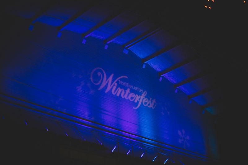 Seattle Washington Seattle Center Winterfest typography signage