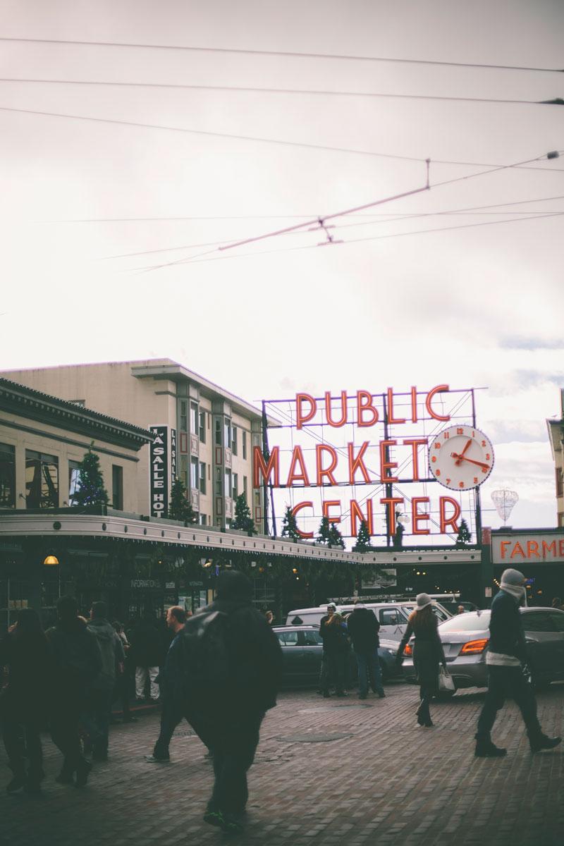 Seattle Washington Public Market Center signage