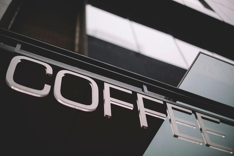 Seattle Washington coffee signage