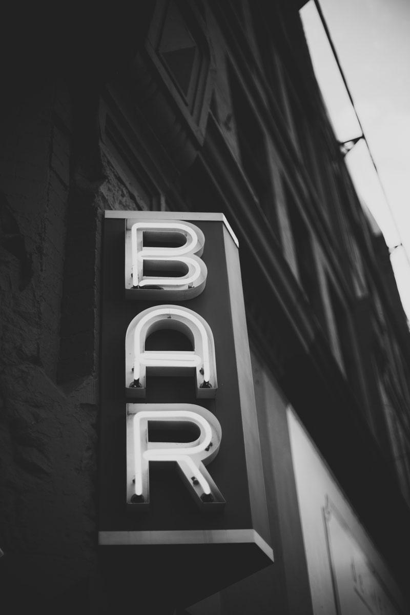 Seattle Washington bar signage