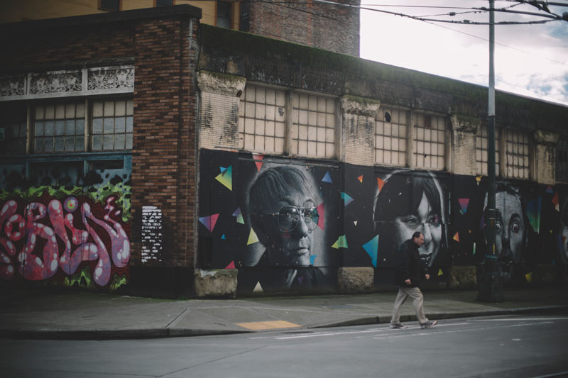 Seattle Washington street art mural
