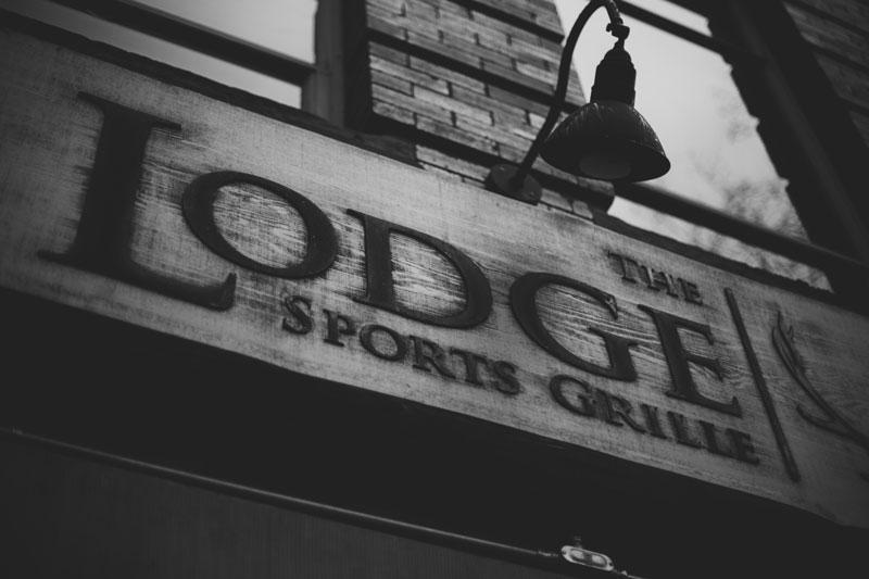 Seattle Washington the Lodge Sports Grille signage