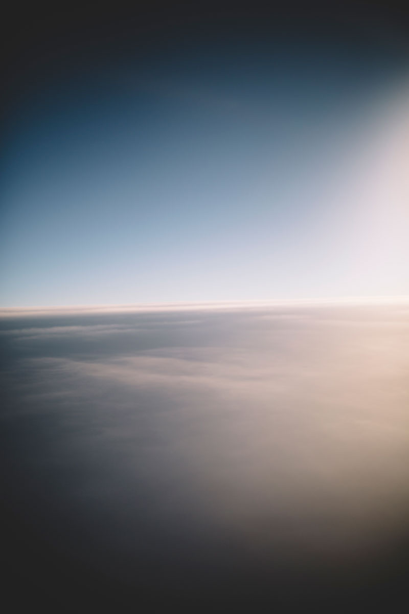 Watching the sunrise from the sky