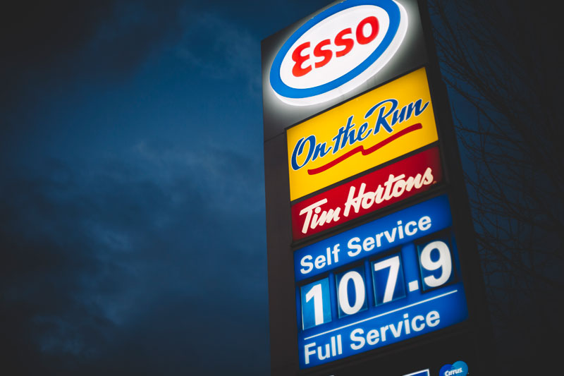 Esso gas station West End Vancouver BC