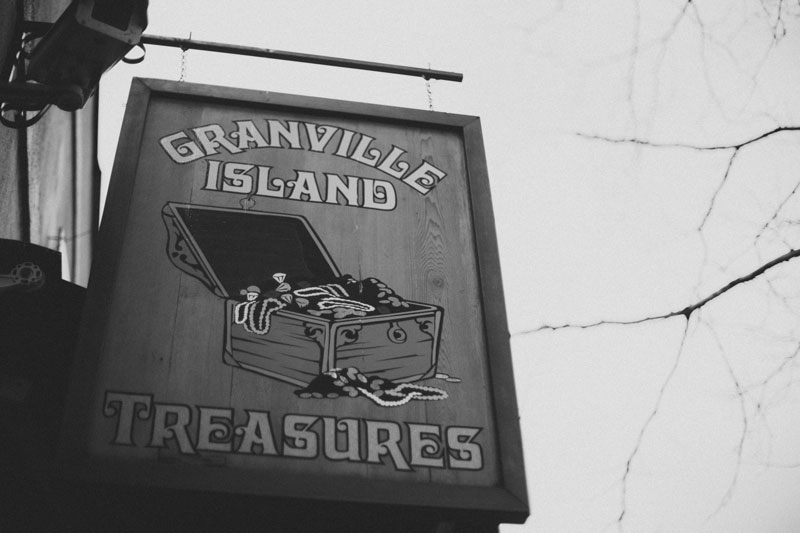 Granville Island Signage Vancouver British Columbia Canada
