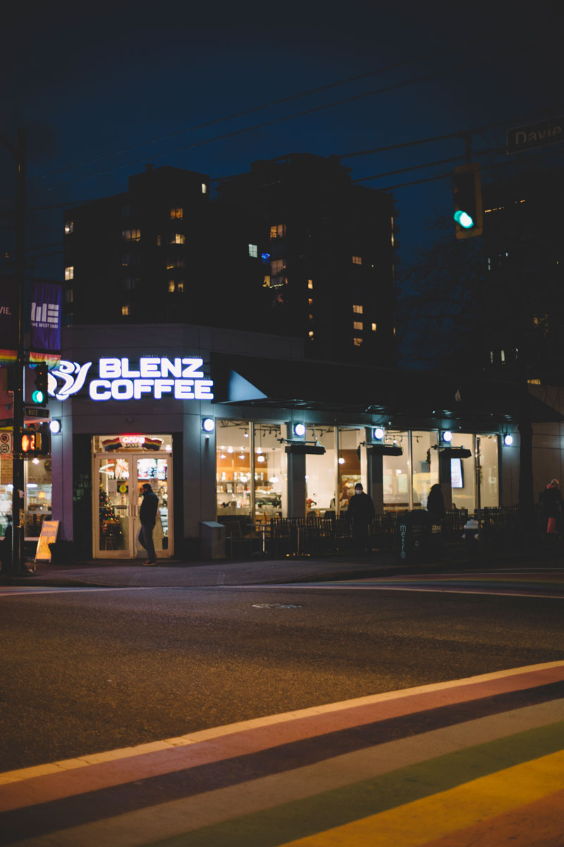 Blenz Coffee West End Vancouver BC