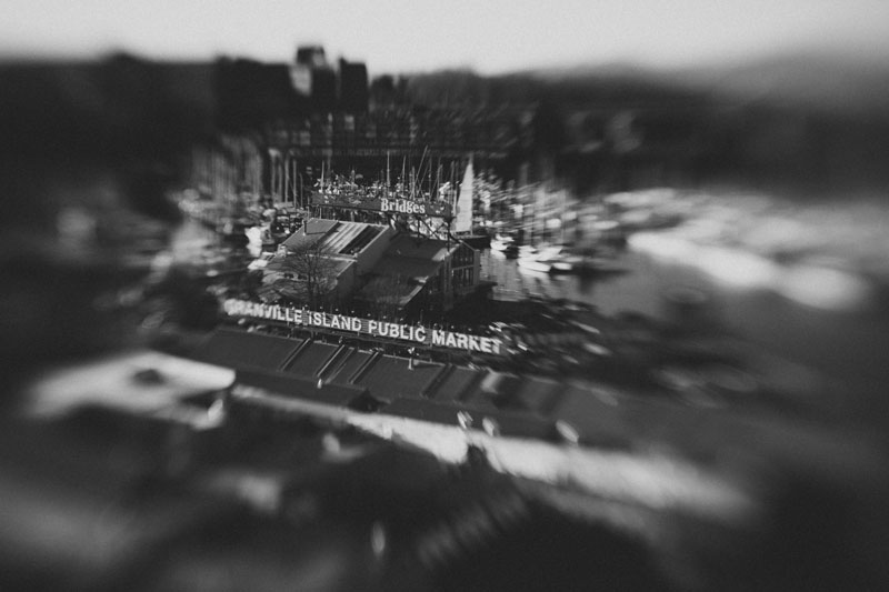 Lensbaby photography of Vancouver's Granville bridge