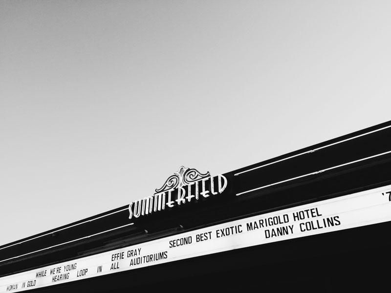 Santa Rosa Summerfield Cinemas Signage