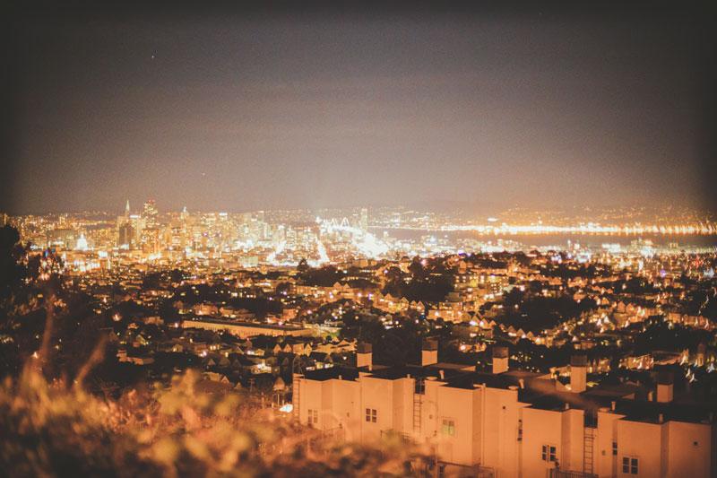 San Francisco, night cityscape