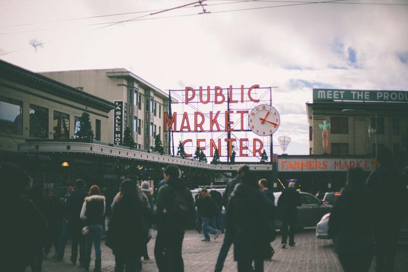 Seattle Washington Pike's Place Market Public Market Center Signage