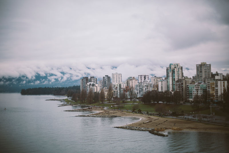 Views from the Burrard Bridge in Vancouver, British Columbia